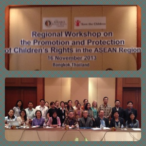 Worshop on Children Rights in the ASEAN Region